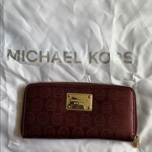 Michael Kors zippered 3 section wallet